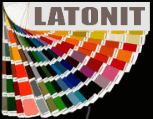 Color chart of Latonit fiber cement boards